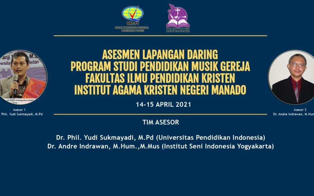 Asesmen Lapangan Daring Prodi PMG FIPK IAKN Manado