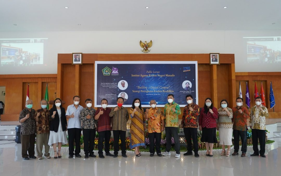 "IAKN Manado Laksanakan Public Lecture (Seminar Keilmuan) ""Building a Digital Campus"" Strategi Peningkatan Kualitas Pendidikan"