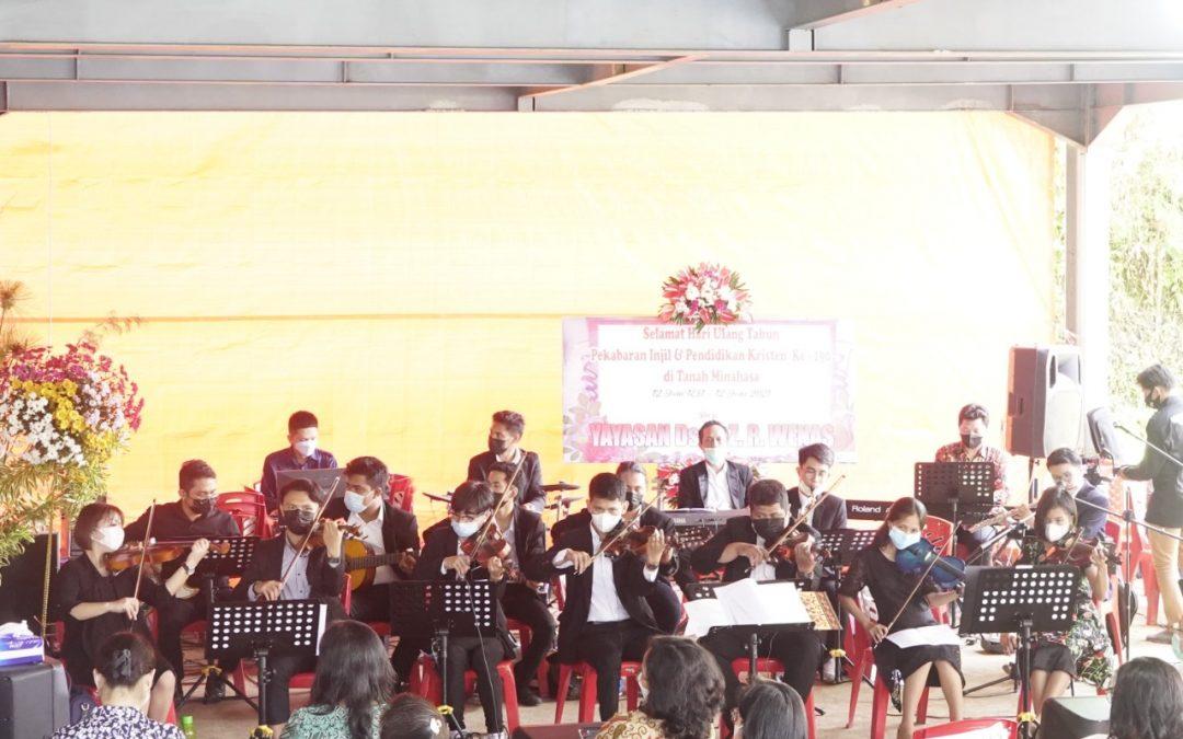 Sinode GMIM Percayakan Tim Orkestra IAKN Manado Mengiring pada Ibadah HUT PI & PK ke-190