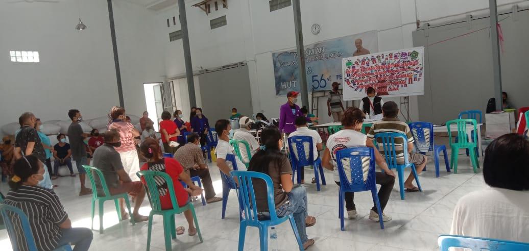 Upayakan Vaksinasi Warga, Himapro Sosiologi Agama IAKN Manado dan Dinkes Kota Manado Berkolaborasi