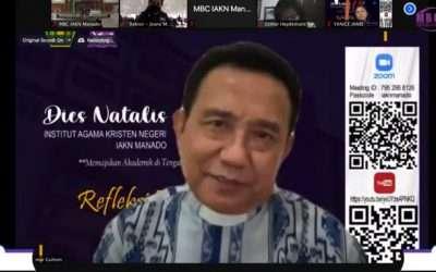 Dies Natalis ke-14 IAKN Manado : Lantangkan Cinta Kasih jadi Ajakan Ketua Umum PGI dalam Refleksi dan Doa