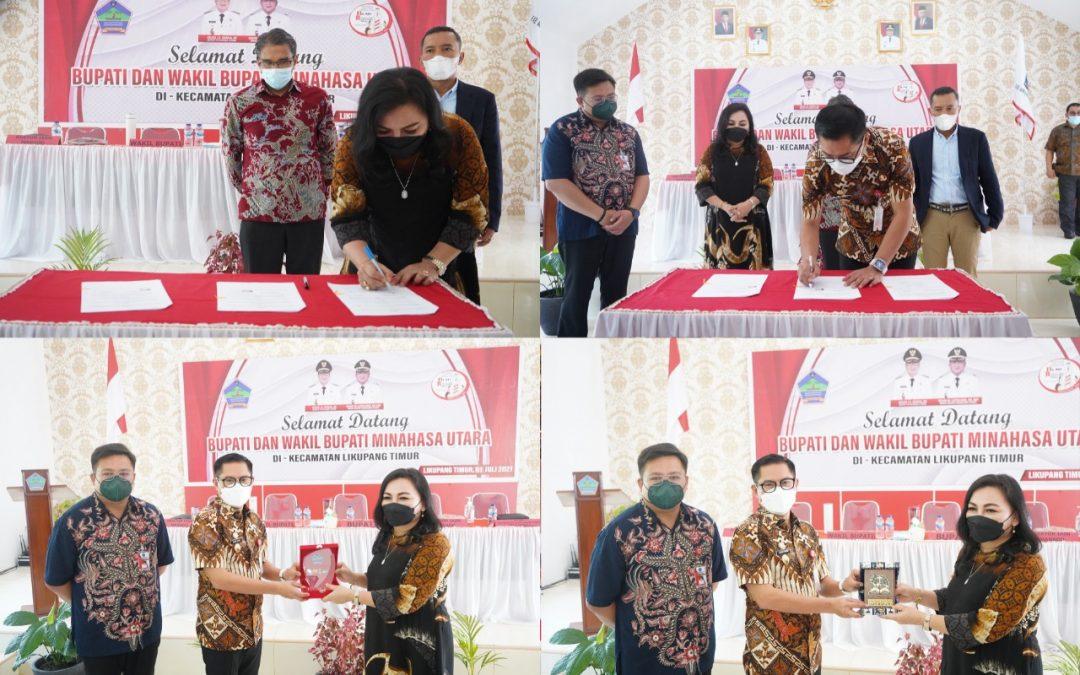 Jalin Kerjasama, IAKN Manado dan Pemerintah Kabupaten Minahasa Utara Tanda Tangan MoU