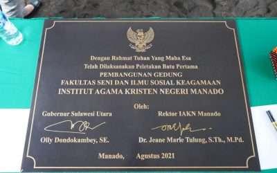 Letakkan Batu Pertama Gedung FSISK, Pemprov Sulut Mendorong Peningkatan Infrastruktur IAKN Manado