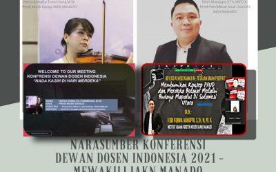 2 Dosen IAKN Manado Terpilih Jadi Narasumber Konferensi Dewan Dosen Indonesia 2021
