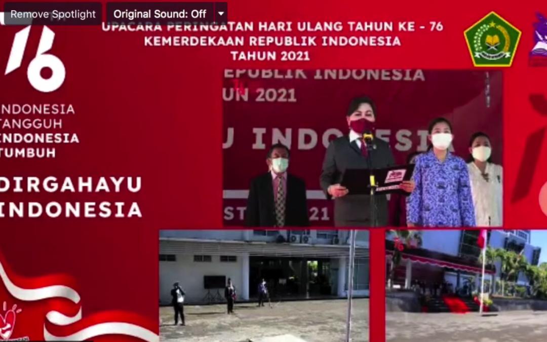 IAKN Manado Gelar Upacara Peringatan HUT Ke-76 Kemerdekaan Republik Indonesia Secara Virtual