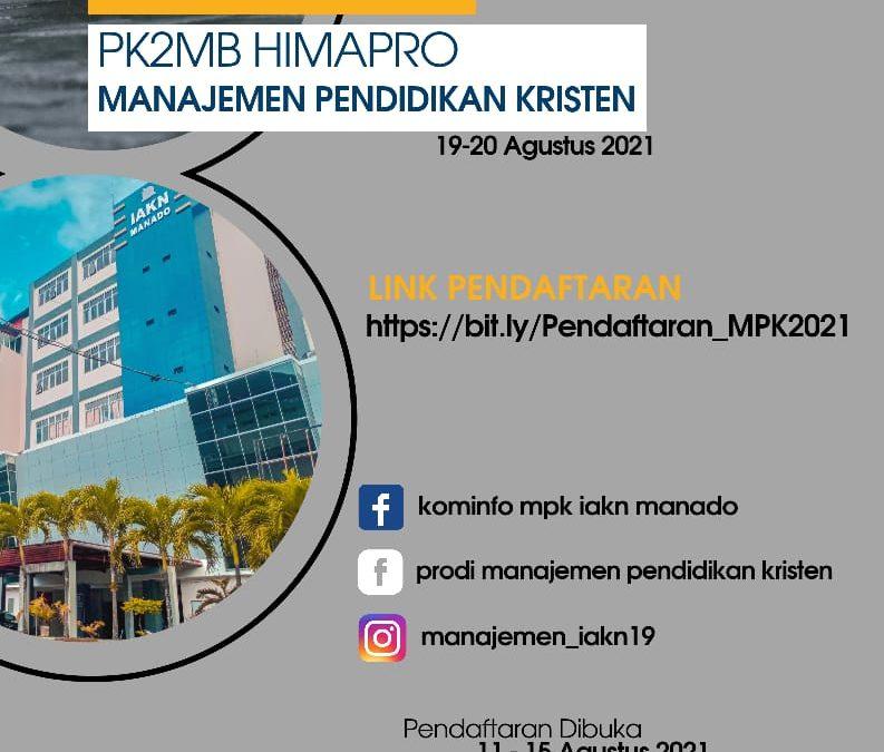 Program Studi Manajemen Pendidikan Kristen FIPK IAKN Manado Siap Sambut MABA Dalam PK2MB