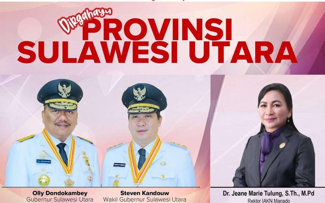 Dirgahayu Ke-57 Provinsi Sulawesi Utara