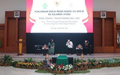 Mengusung Tema Perkembangan Pengelolaan Pendidikan, Komisi VIII DPR RI Lakukan Kunjungan Kerja di IAKN Manado