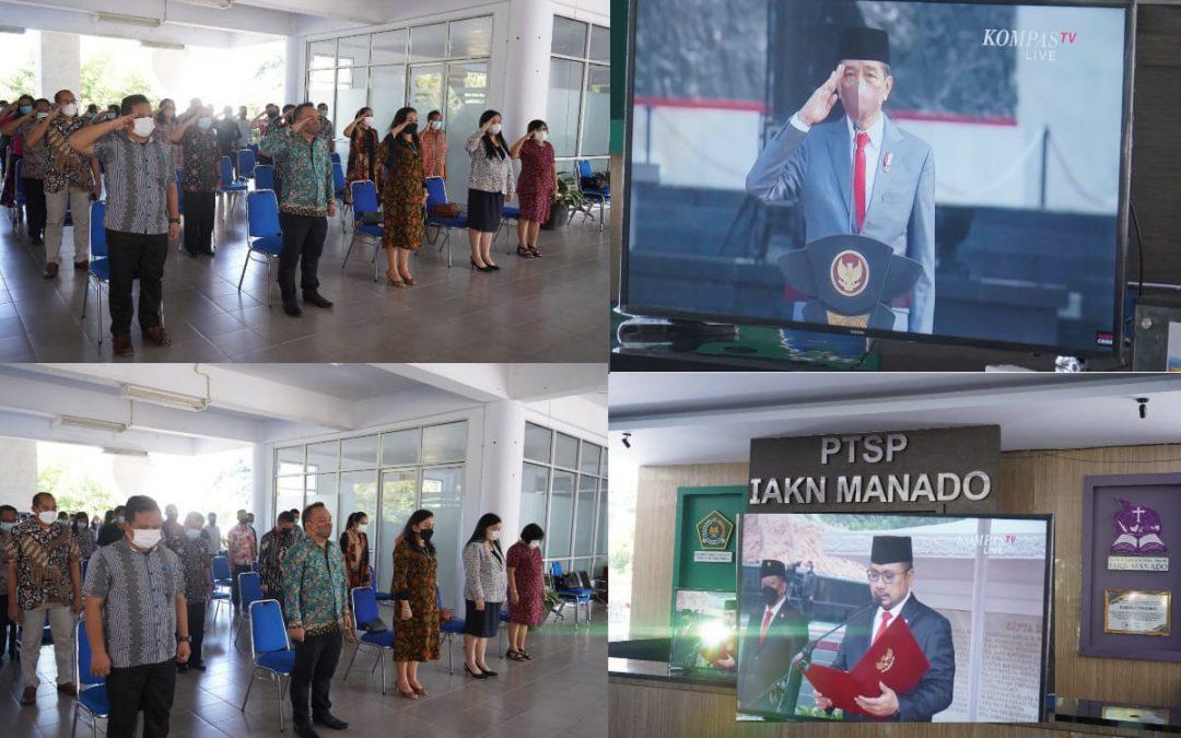 IAKN Manado Ikuti Upacara Peringatan Hari Kesaktian Pancasila 1 Oktober 2021
