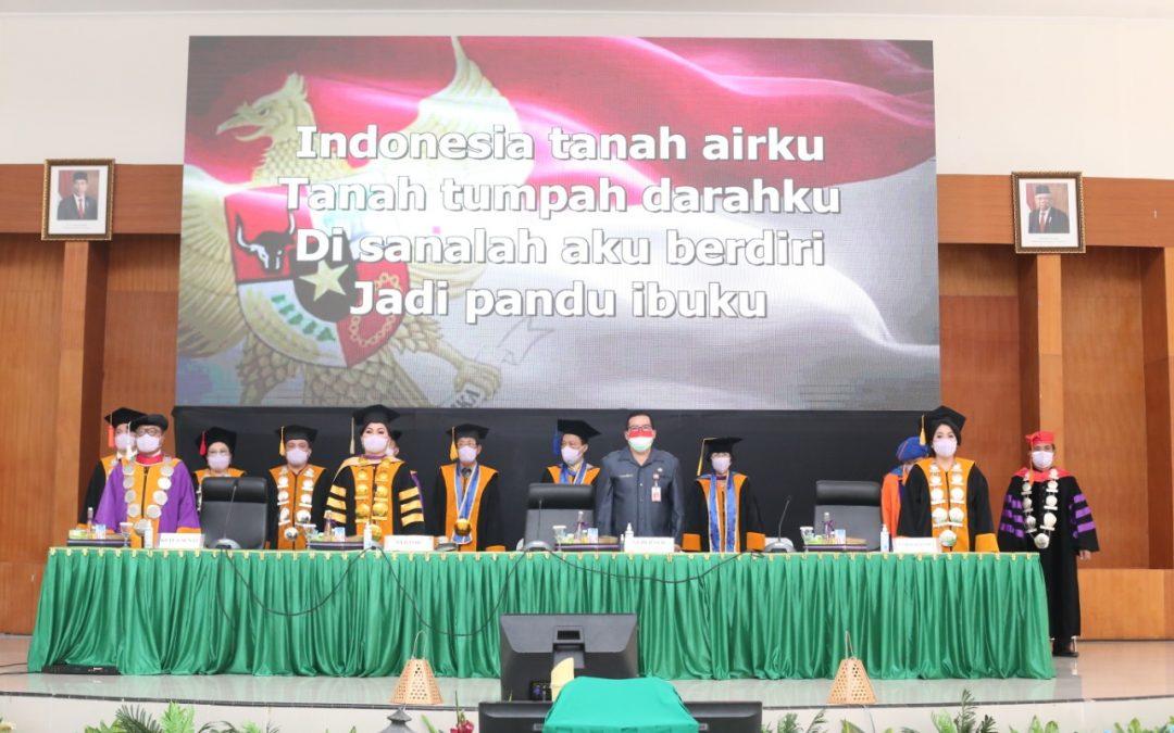 Sidang Terbuka Senat IAKN Manado Wisuda Program Doktor, Magister & Sarjana Tahun 2021 Sukses Digelar