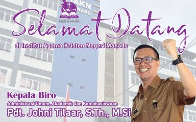 Jhoni Tilaar Jabat Kepala Biro AUAK IAKN Manado